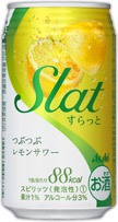 アサヒSlat つぶつぶレモンサワー缶 350ml