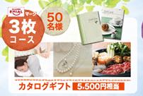 EMIALマーク3枚コース:50名様 カタログギフト5,500円相当