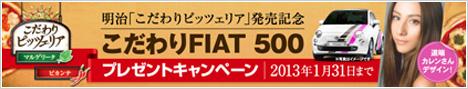 こだわりFIAT 500 プレゼントキャンペーン