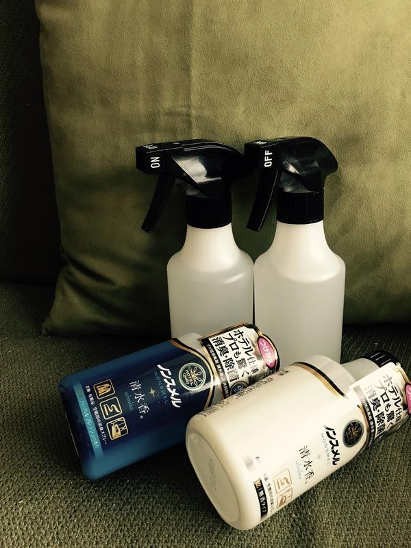 ノンスメル清水香 衣類・布製品・空間用スプレー 無香/ハーバルフレッシュの香り つけかえ付き4本セット