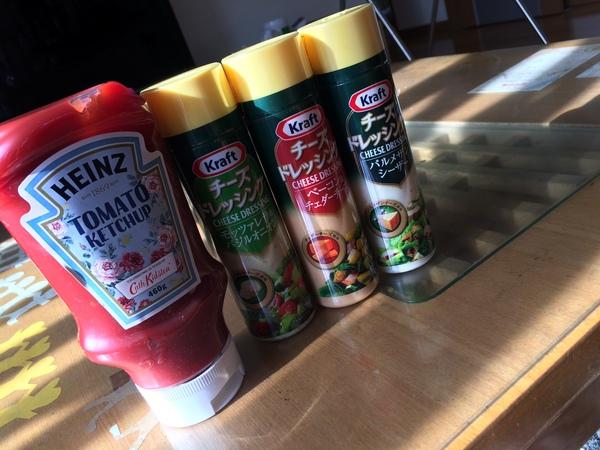 クラフト チーズドレッシング3種/ハインツ トマトケチャップ2種 計7点