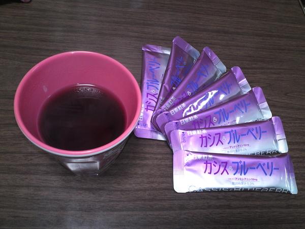 日東紅茶 カシス&ブルーベリー×6