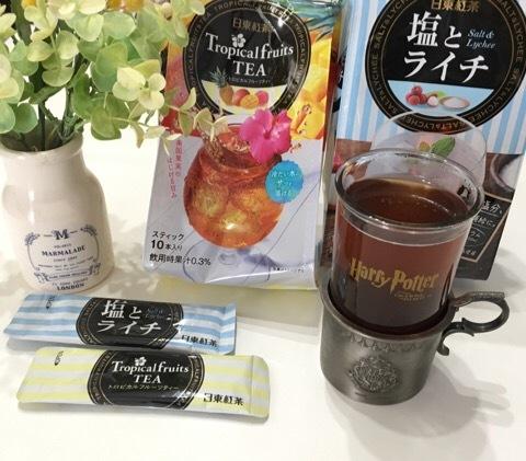 日東紅茶 トロピカルフルーツティー/塩とライチ 各3個