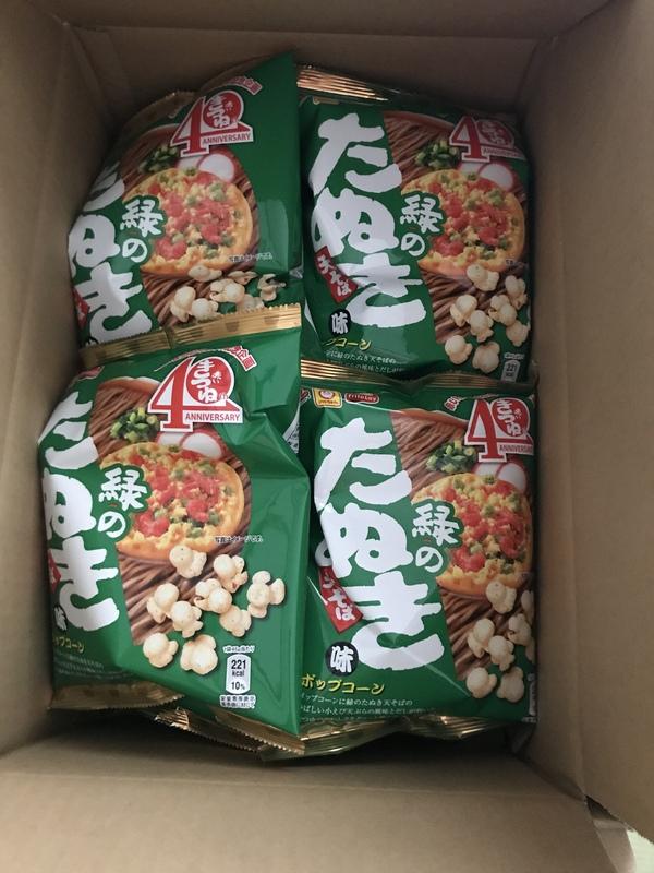マイクポップコーン 緑のたぬき味 24袋