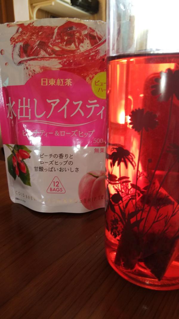 日東紅茶 水出しアイスティー ピーチティー&ローズヒップ 6袋