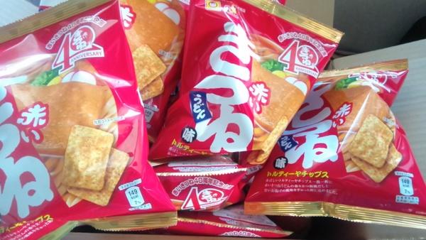 トルティーヤチップス 赤いきつね味 24袋
