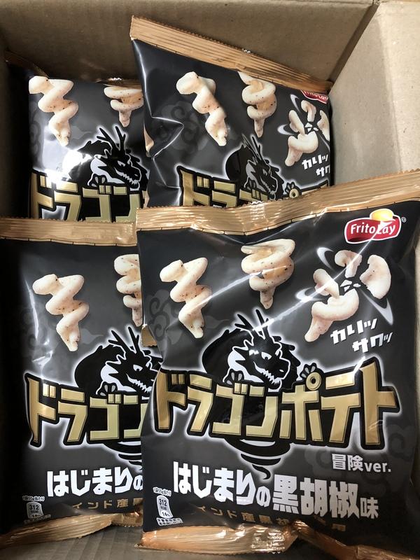 ドラゴンポテト はじまりの黒胡椒味 24袋
