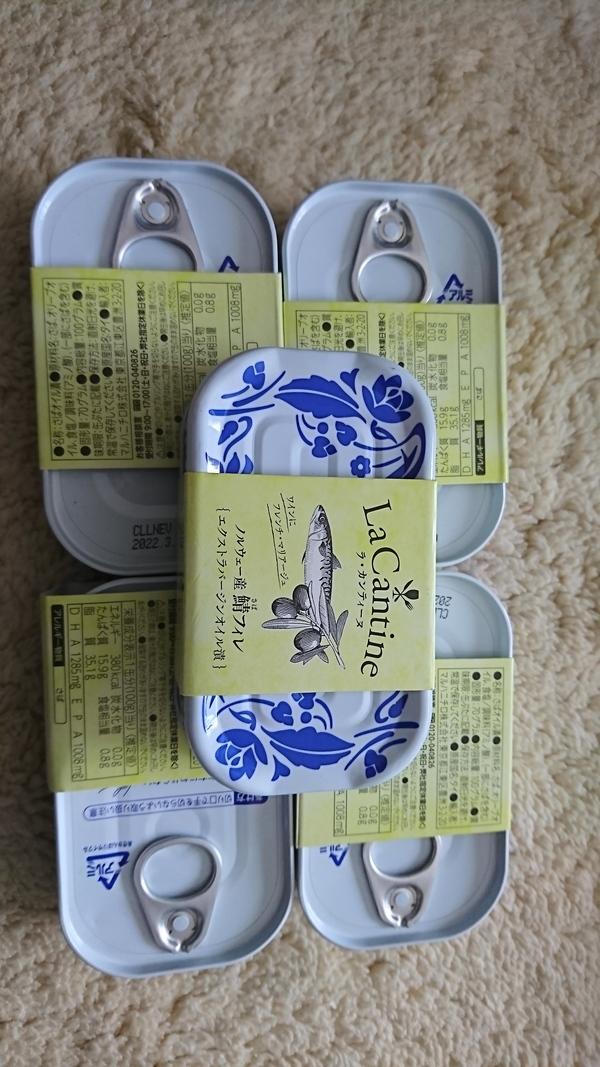 LaCantine(ラ・カンティーヌ)鯖フィレ エクストラバージンオイル×5缶