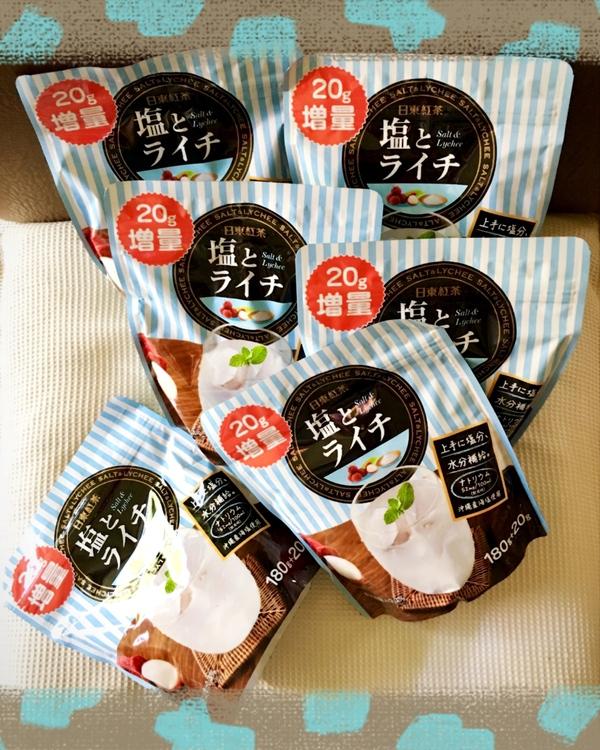 日東紅茶 塩とライチ180g 6袋