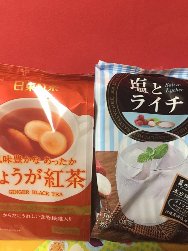 日東紅茶 しょうが紅茶/塩とライチ 各3個