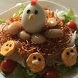 美味しかった「鳥の巣サラダ」