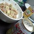 アボガド丼とトリスハイボール