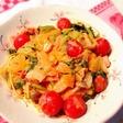 海老トマトクリームスパゲッティ