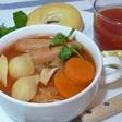 シェルパスタの簡単シャンタン・ボルシチ風スープ♪