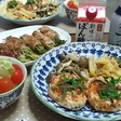 豆腐ハンバーグと豆苗の肉…