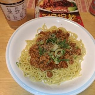 「Cook Do® 四川担担麺用」を使って汁無し担々焼きそばを作ってみた。