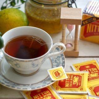 ほっと一息 日東紅茶でティータイム♡丁寧に個包装されたこのティーバッグでいつも変わらない美味しさを楽しめます。