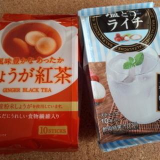 今日の紅茶「日東紅茶 しょうが紅茶/塩とライチ」