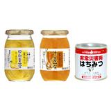 日向夏茶×1瓶&生姜茶×1瓶&サクラ印 非常災害用はちみつ×2缶