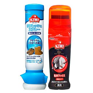 KIWI(キィウイ)  リフレッシュスプレー 2本/エリート液体靴クリーム(黒用…