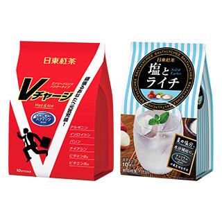 日東紅茶 Vチャージ/塩とライチ 各3個