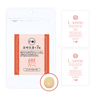 noi 金時生姜+7種/noi L-savon エルサボン デリケートゾーン専用ソープ 2袋