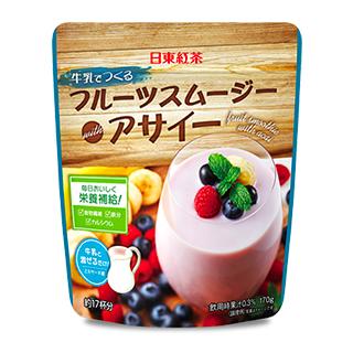 日東紅茶 牛乳でつくるフルーツスムージー with アサイー×5…