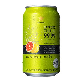 サッポロチューハイ99.99クリアグレープフルーツ 24本