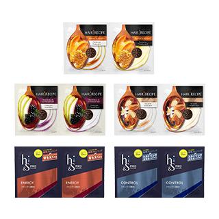 Hair Recipe(ヘアレシピ)/h&s PRO(エイチアンドエス プロ) 合計5種64Pサシェット