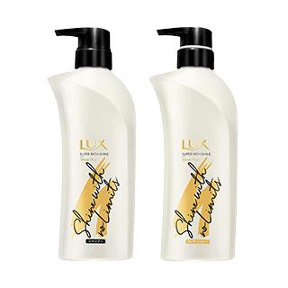 LUX スーパーリッチシャイン シャインプラス ツヤ出しシャンプー&トリートメント 各2本