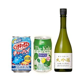 シゲキックスチューハイソーダ味&ケールサワー 合計4本/浜福鶴 磨き三割八分×1本
