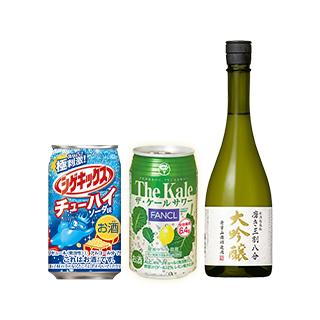 シゲキックスチューハイ ソーダ味&ケールサワー 合計4本/大吟醸 磨き三割八分 越後桜×1本