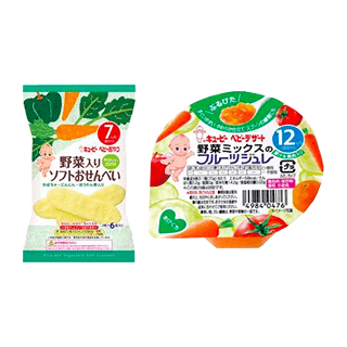 キユーピー 野菜入りソフトおせんべい/野菜ミックスのフ…