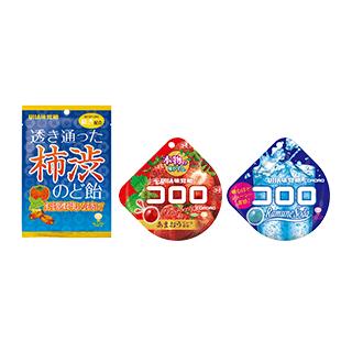 透き通った柿渋のど飴/コロロ ストロベリー・コロロ ソ…